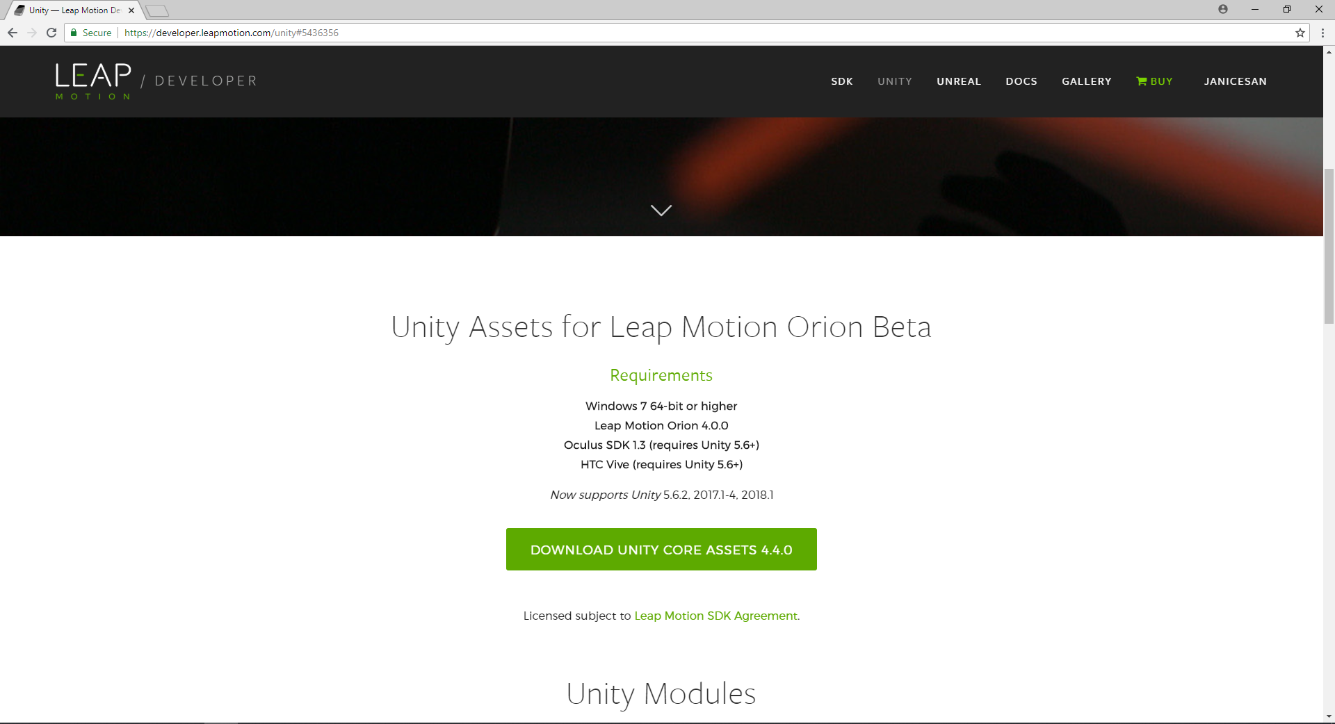 Learning journal: Moving an object via Leap Motion in Unity – Janice